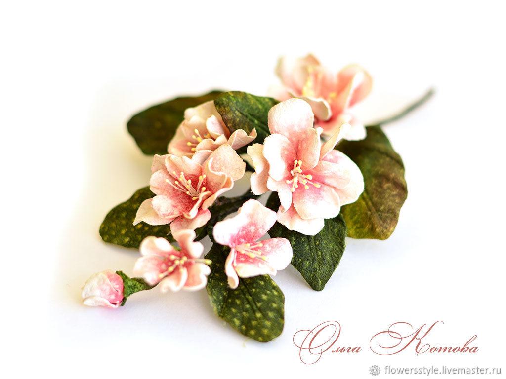 Sakura Japanese Flowers Soft Leather Rose Brooch Shop Online On