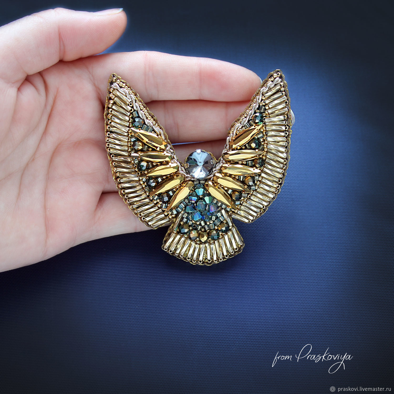 Brooch: Golden angel, Brooches, Ekaterinburg,  Фото №1