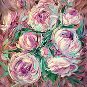 Картины и панно handmade. Livemaster - original item Oil painting on canvas. Peony aroma with hints of chocolate. Peonies. Handmade.