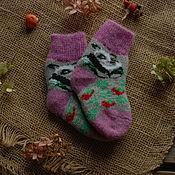 Аксессуары handmade. Livemaster - original item Socks baby wool Panda. Handmade.