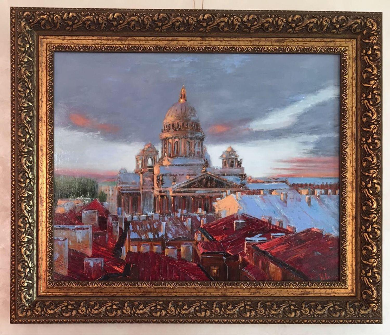 Крыши питера, Картины, Курск,  Фото №1