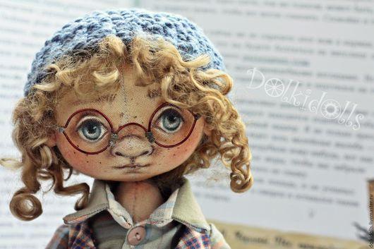 мальчик, кукла мальчик, шарнирная кукла, подвижная кукла, будуарная кукла, очки, купить куклу, doll, шарнирка, текстильная шарнирная кукла