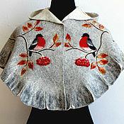 Работы для детей, handmade. Livemaster - original item Pelerine with hood, for girls aged 6-10 years.. Handmade.