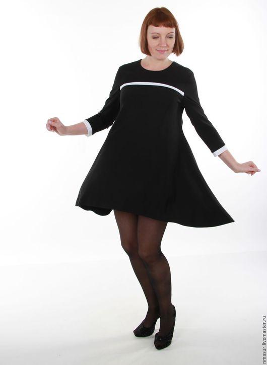 Платья ручной работы. Ярмарка Мастеров - ручная работа. Купить Черное широкое платье. Handmade. Чёрно-белый, широкое платье