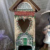 """Для дома и интерьера ручной работы. Ярмарка Мастеров - ручная работа Чайный домик """"Цветочные дворики"""". Handmade."""