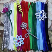 Материалы для творчества handmade. Livemaster - original item A set of wire Chenille. Handmade.