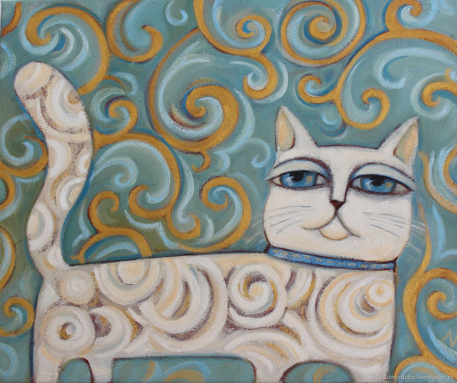 Cat. Oil on canvas 50*60 cm, Pictures, Obninsk,  Фото №1