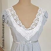 Одежда ручной работы. Ярмарка Мастеров - ручная работа Хлопковое платье для жаркого лета. Handmade.