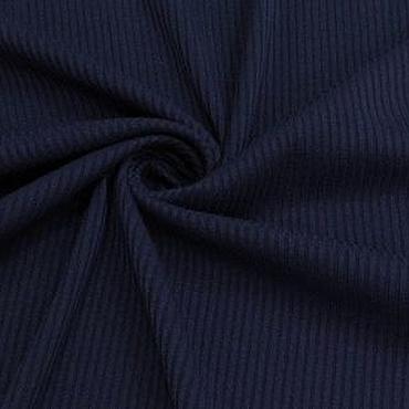 Материалы для творчества ручной работы. Ярмарка Мастеров - ручная работа Ткань натуральная трикотаж рибана т.синяя. Handmade.
