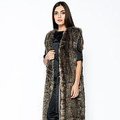 Одежда handmade. Livemaster - original item long faux fur vest (art. 4233). Handmade.