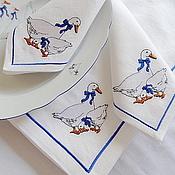 Для дома и интерьера handmade. Livemaster - original item Tablecloth and Napkins with Embroidery