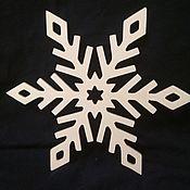 Елочные игрушки ручной работы. Ярмарка Мастеров - ручная работа Елочные игрушки: Снежинка. Handmade.