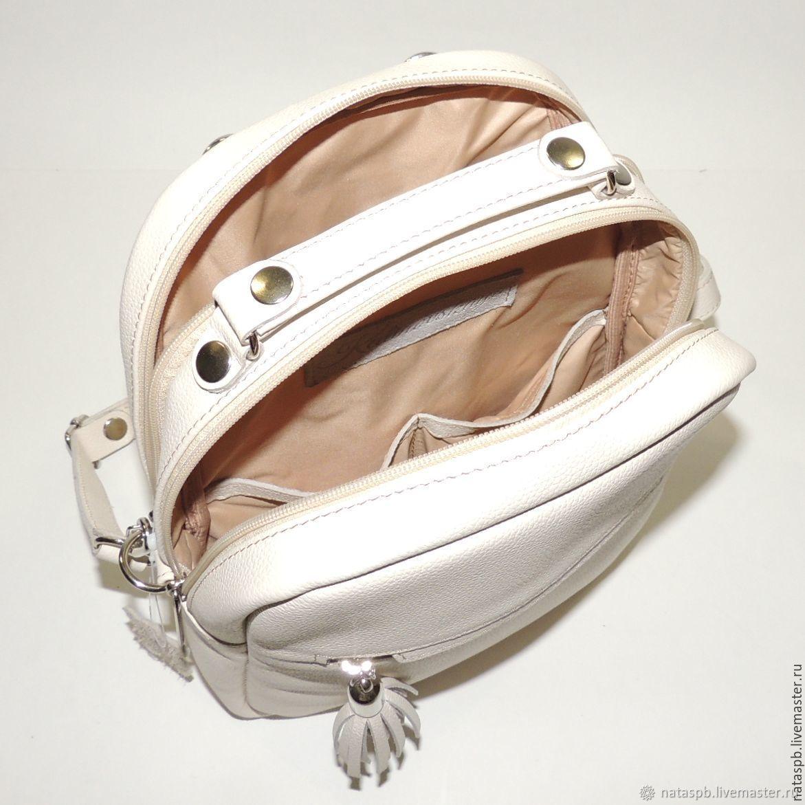 7dfb7e22806e Backpack leather women s beige  Veroniya . Natalia Kalinovskaya. My  Livemaster
