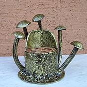 Комплекты аксессуаров для дома ручной работы. Ярмарка Мастеров - ручная работа Карандашница грибы. Handmade.
