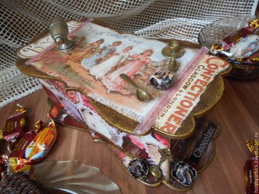 Шкатулки ручной работы. Ярмарка Мастеров - ручная работа. Купить Шкатулка Шоколадное ретро. Handmade. Разноцветный, шоколадница