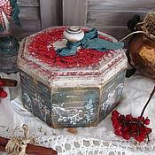 """Для дома и интерьера ручной работы. Ярмарка Мастеров - ручная работа Бонбоньерка  """"Морозная ягода """". Handmade."""