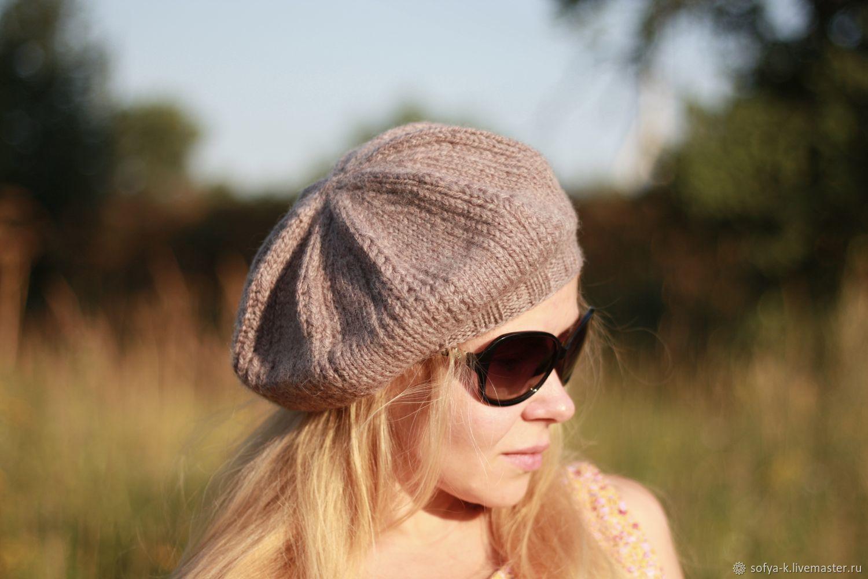 Wool beret beige 'Warm', Berets, Moscow,  Фото №1