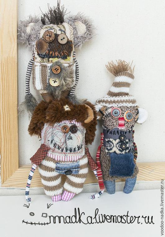 Коллекционные куклы ручной работы. Ярмарка Мастеров - ручная работа. Купить зима уже близко;). Handmade. Коричневый, монстры