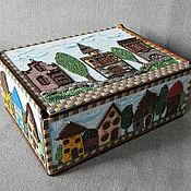Для дома и интерьера handmade. Livemaster - original item Tea box Houses.Personal order. Handmade.