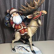 Народные сувениры ручной работы. Ярмарка Мастеров - ручная работа Санта Клаус на Лосе. Handmade.