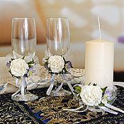 """Свадебный салон ручной работы. Ярмарка Мастеров - ручная работа Свадебный комплект """"Нежное прикосновение"""". Handmade."""