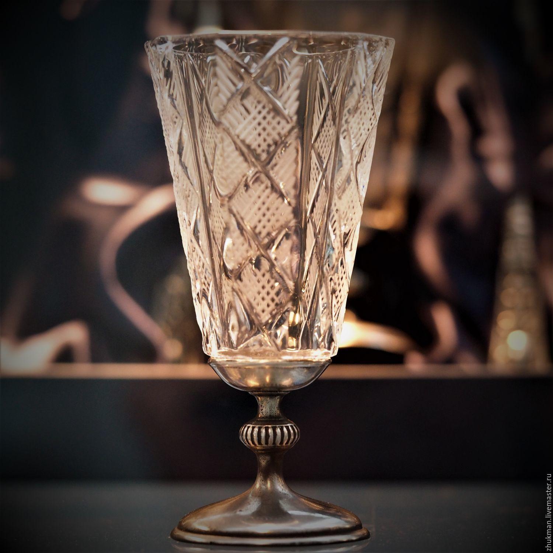 Lapitnik 'ENGRAVED EMPIRE-50' on the leg (crystal, tin), Shot Glasses, Zhukovsky,  Фото №1
