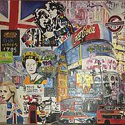 Картины и панно ручной работы. Ярмарка Мастеров - ручная работа Огромная картина Лондон. Handmade.