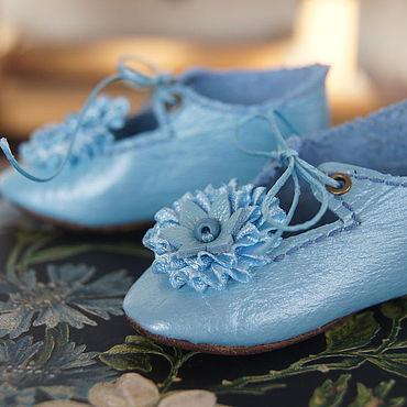 """Куклы и игрушки ручной работы. Ярмарка Мастеров - ручная работа Обувь для Антикварной и современной куклы """"Blue Star"""". Handmade."""