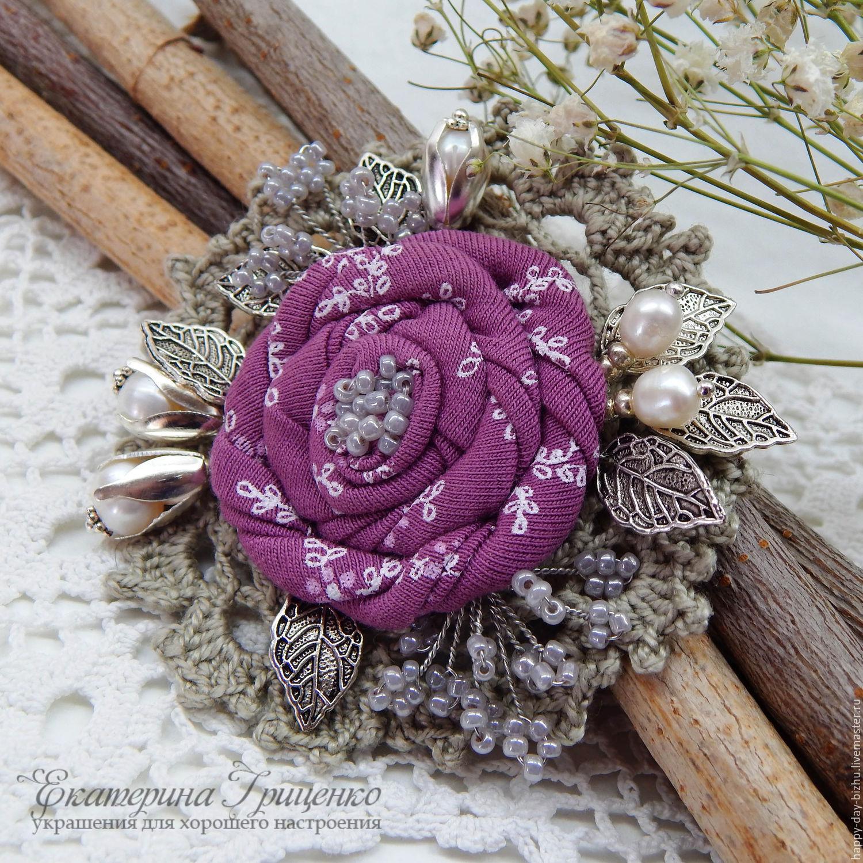 brooch, buy brooch, knitted brooch, textile brooch, brooch boho style, beautiful brooch, brooch as a gift, the brooch on the dress, the brooch on the scarf, the brooch on the shawl, the brooch on the