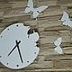 """Часы для дома ручной работы. Ярмарка Мастеров - ручная работа. Купить Часы 29см из металла """"Liblikas"""". Handmade. Весна"""