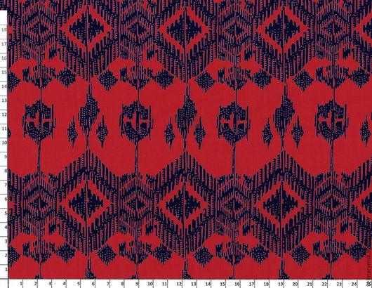 Аппликации, вставки, отделка ручной работы. Ярмарка Мастеров - ручная работа. Купить Штапель 076 (СОТ 050/213) красный/василек. Handmade.