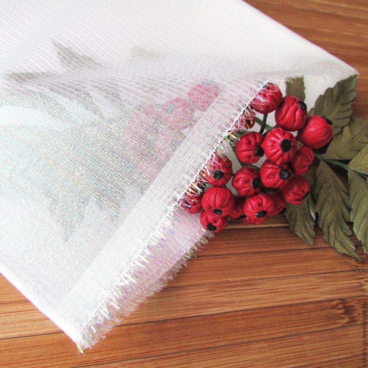 Organza rainbow (Hagoromo pearl). Japanese fabric flowers. SAKURA - materials for citadele.