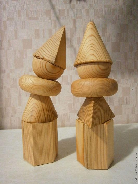 Развивающие игрушки ручной работы. Ярмарка Мастеров - ручная работа. Купить Геометрические фигуры. Handmade. Бежевый, воображение, призма