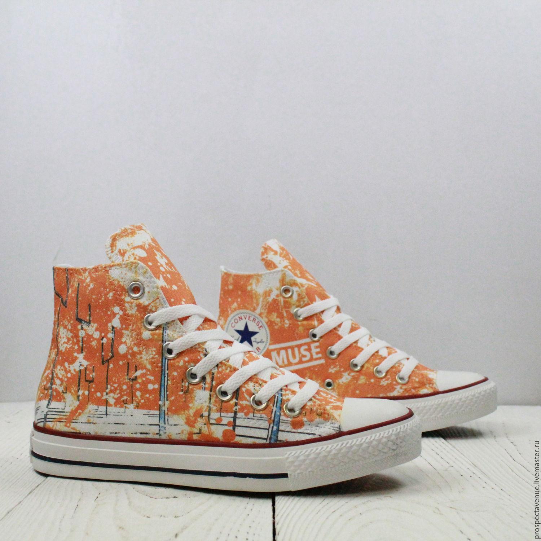 Обувь ручной работы. Ярмарка Мастеров - ручная работа. Купить Высокие кеды  Converse «Muse ... 9daf9d4fa599c