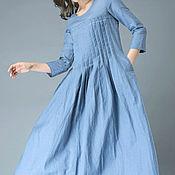 Одежда ручной работы. Ярмарка Мастеров - ручная работа Голубое платье Платье голубое. Handmade.