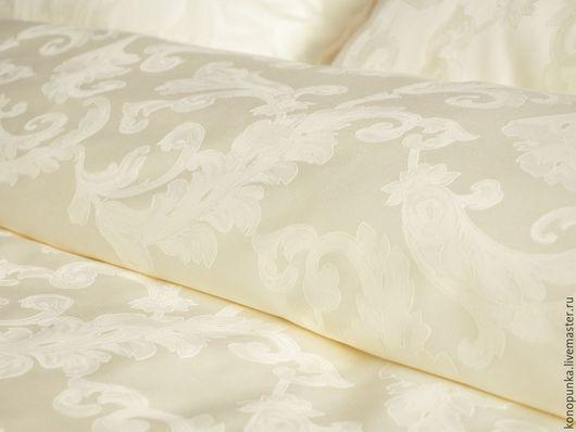 Текстиль, ковры ручной работы. Ярмарка Мастеров - ручная работа. Купить Постельное белье сатин премиум Кремовая лоза. Handmade.