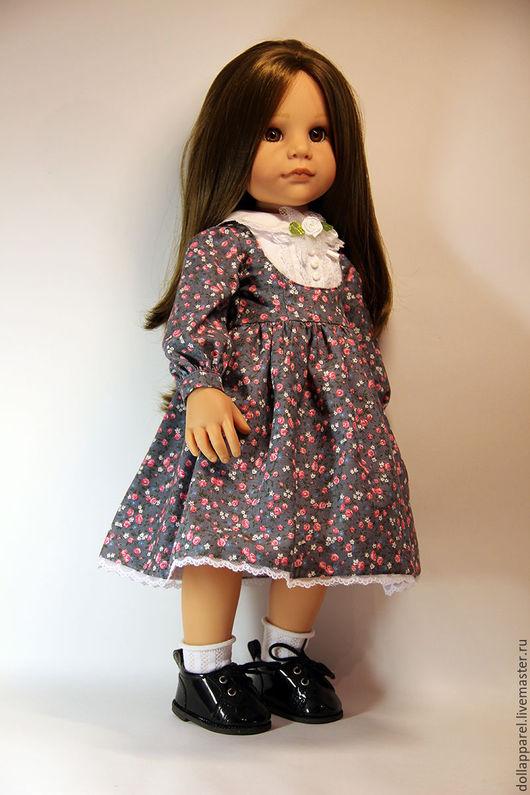 Одежда для кукол ручной работы. Ярмарка Мастеров - ручная работа. Купить Нежное цветочное платье для куклы Gotz 50 см. Handmade.