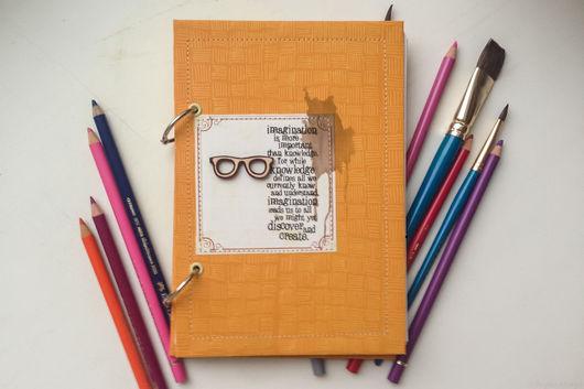 Блокноты ручной работы. Ярмарка Мастеров - ручная работа. Купить Блокнот художника. Handmade. Рыжий, блокноты, акварельная бумага, Скрапбумага