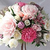 Цветы и флористика ручной работы. Ярмарка Мастеров - ручная работа Букеты из конфет, Топиарий Розовая мечта. Handmade.