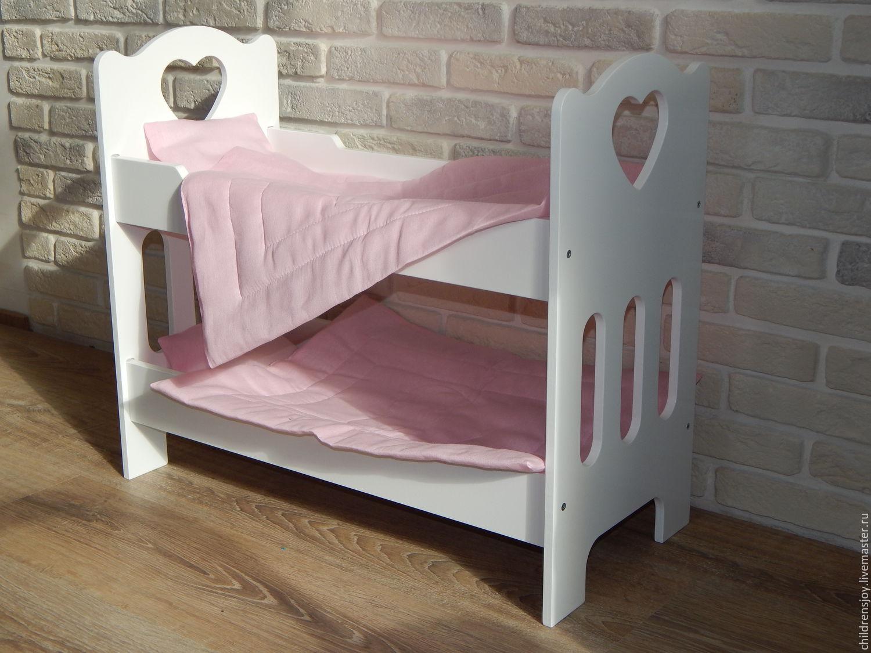 Деревянная кровать для куклы своими руками фото 927