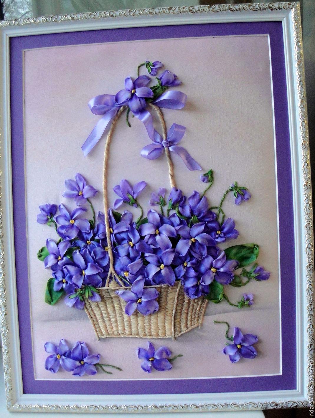 Фото с цветами для вышивки лентами