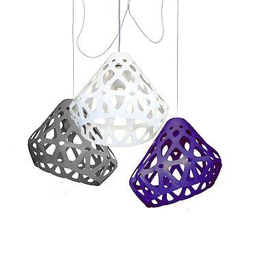 Освещение ручной работы. Ярмарка Мастеров - ручная работа ZAHA LIGHT трехцветная трехрожковая люстра 42. Handmade.