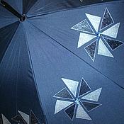 """Аксессуары ручной работы. Ярмарка Мастеров - ручная работа """"Крутик-вертик"""" Зонт с росписью. Handmade."""