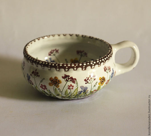 Кружки и чашки ручной работы. Ярмарка Мастеров - ручная работа. Купить Кофейная чашка керамическая (майолика). Handmade. Кофейная чашка