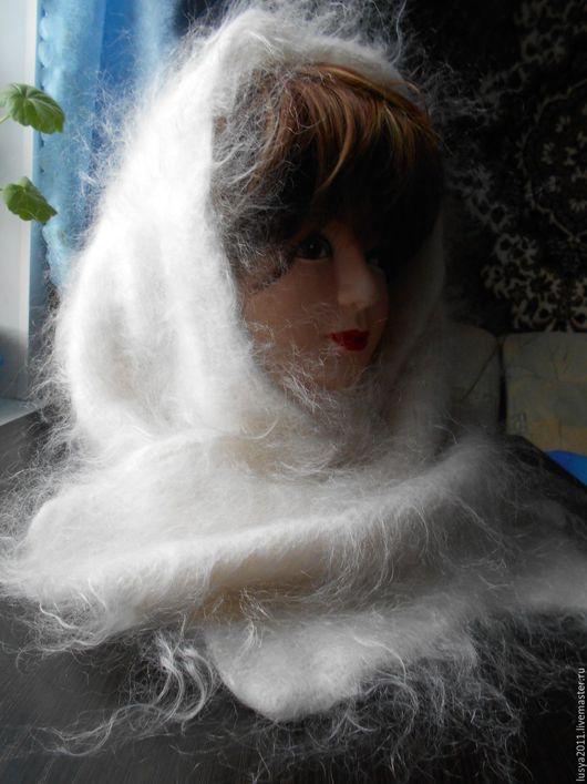 Шарфы и шарфики ручной работы. Ярмарка Мастеров - ручная работа. Купить Нежный белый пуховый шарф. Handmade. Белый