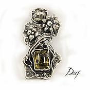 Украшения handmade. Livemaster - original item Pendant: Flower and stone. Handmade.