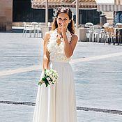 Свадебное платье цветочное СКИДКА!!!