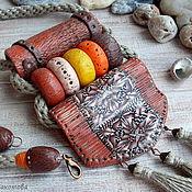 Кулон из полимерной глины Мексиканские мотивы. Этно кулон