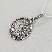 Украшения handmade. Livemaster - original item Silver pendant with Swarovski crystals. Handmade.