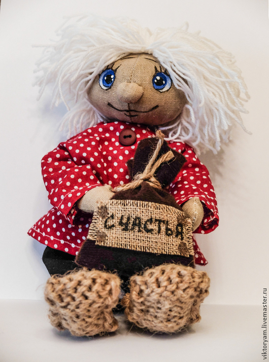 Человечки ручной работы. Ярмарка Мастеров - ручная работа. Купить Домовенок. Handmade. Разноцветный, домовой, текстильная кукла, тильда, мешковина